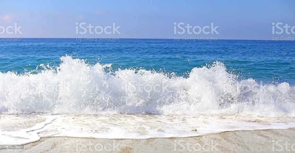 breaking surf stock photo