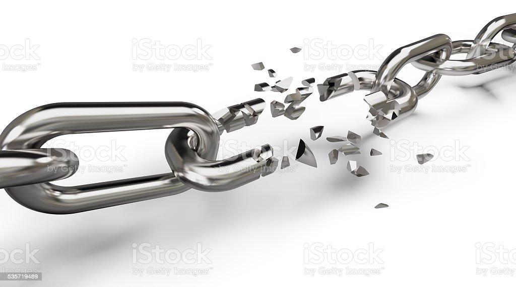 breaking the chain stock photo
