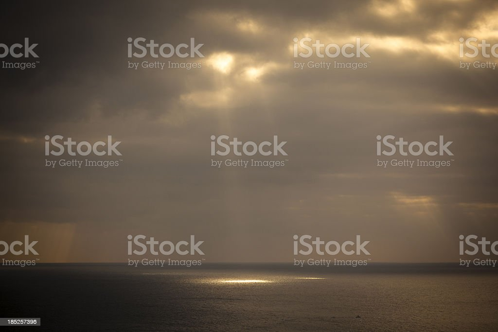 breaking the clouds royalty-free stock photo