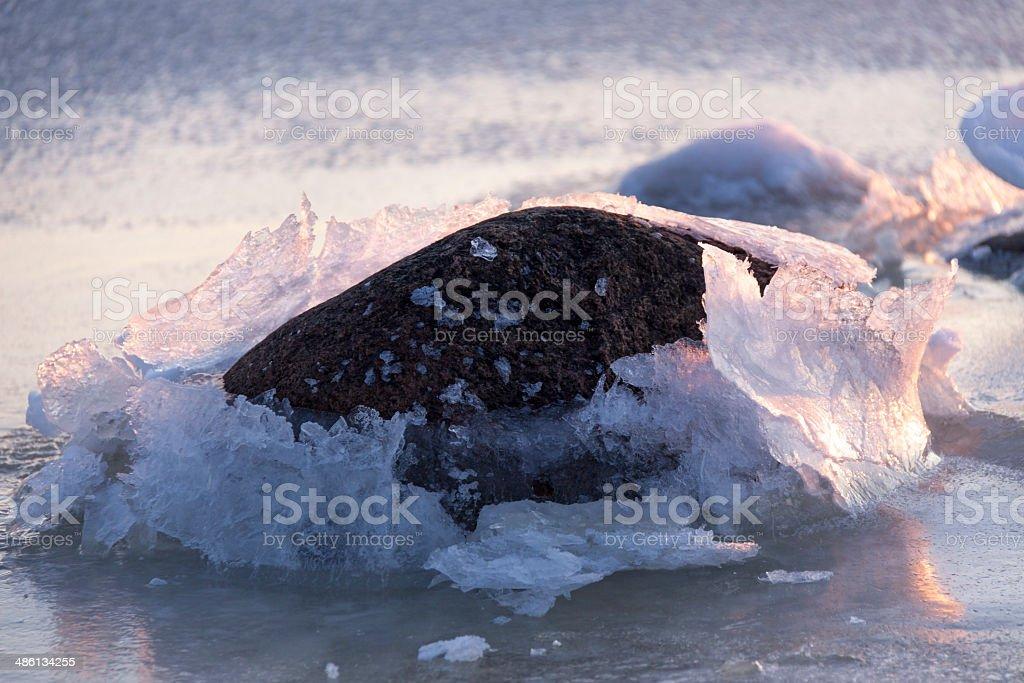 Breaking the ice stock photo