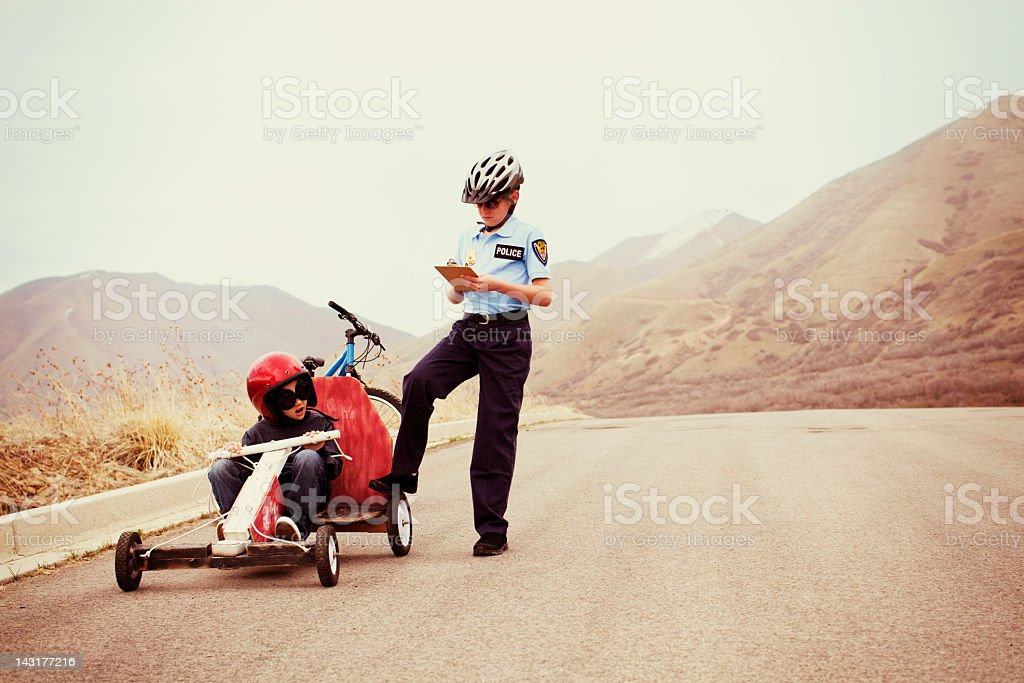 Breaking the Law stock photo