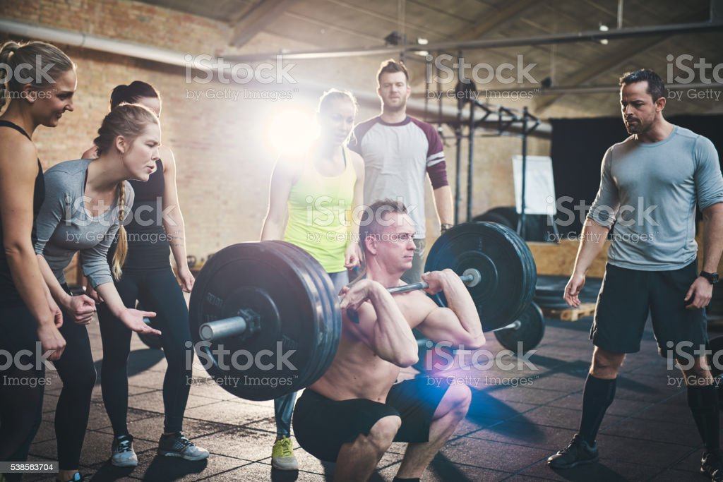 Breaking through a new weight barrier stock photo