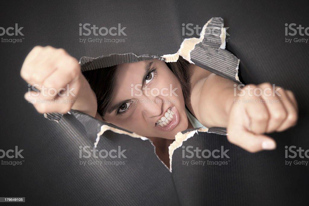 breaking through stock photo