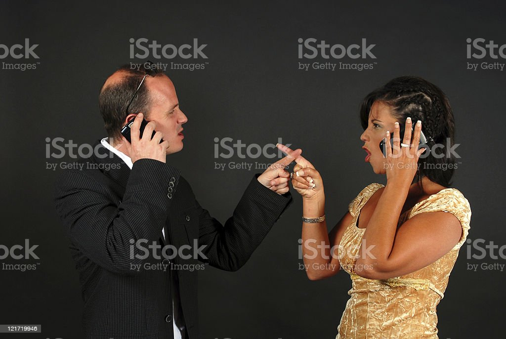 Breaking Up on the Phone stock photo