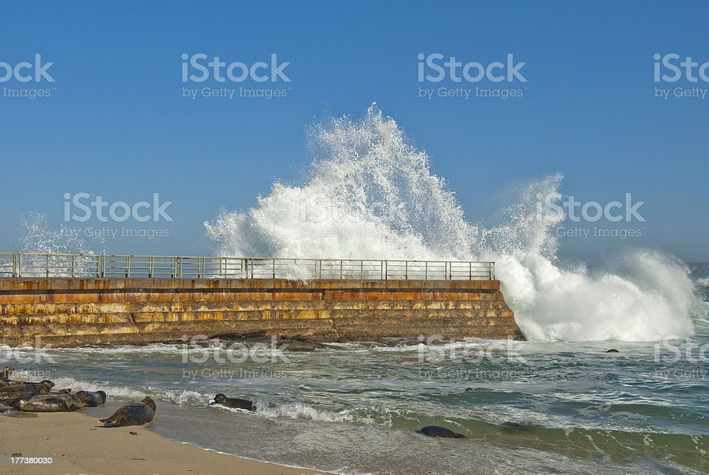 Breaking Wave in La Jolla stock photo