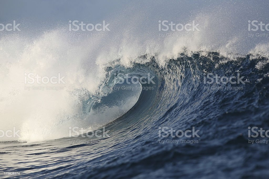 Breaking wave in the South Pacific royalty-free stock photo