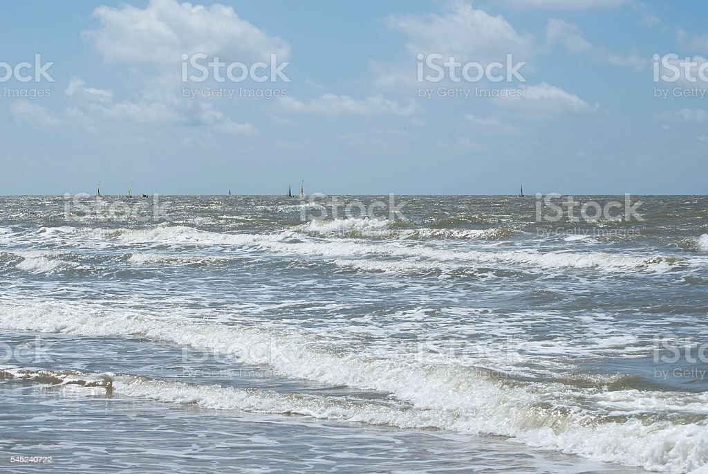 Breaking wave. stock photo