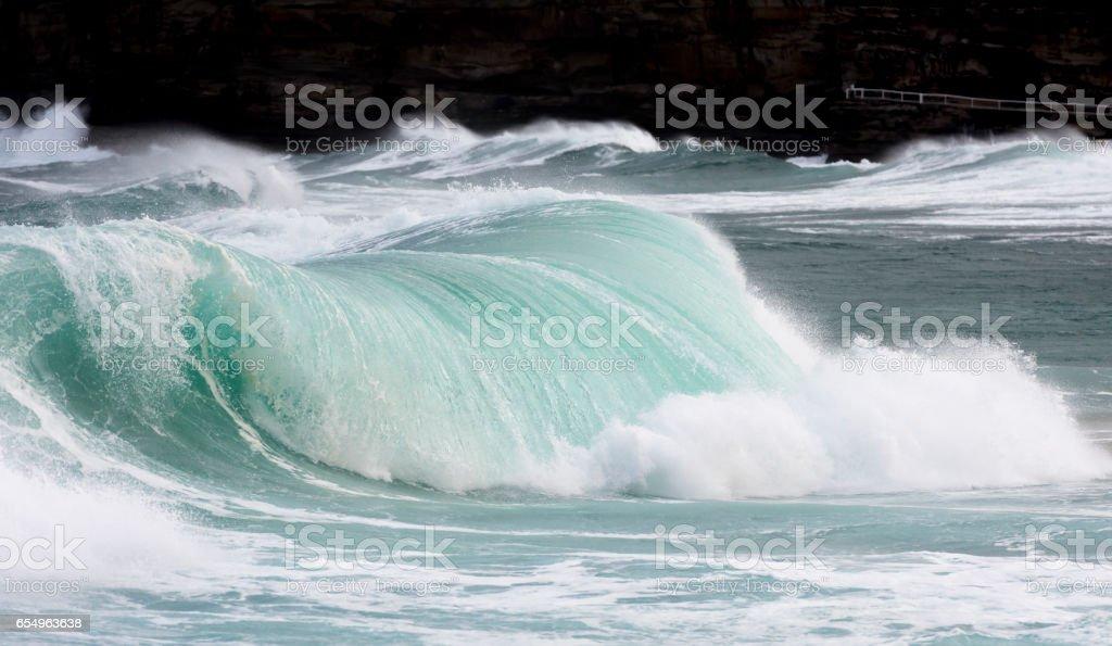 Breaking wave stock photo