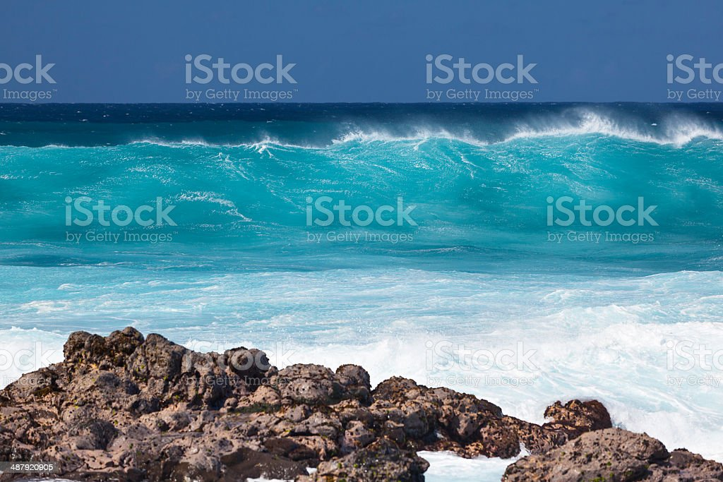 Breaking Waves, Maui stock photo