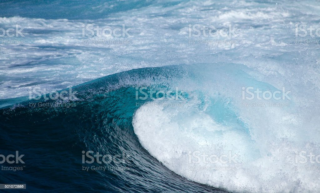 breaking waves natural background stock photo