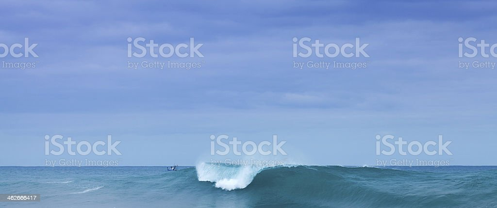 breaking waves stock photo