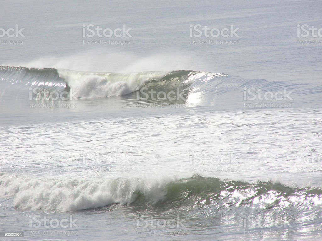 Breaking waves royalty-free stock photo