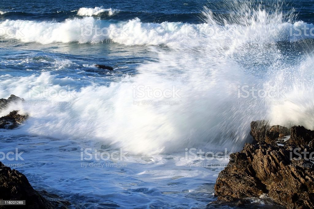 Breaking wawes stock photo