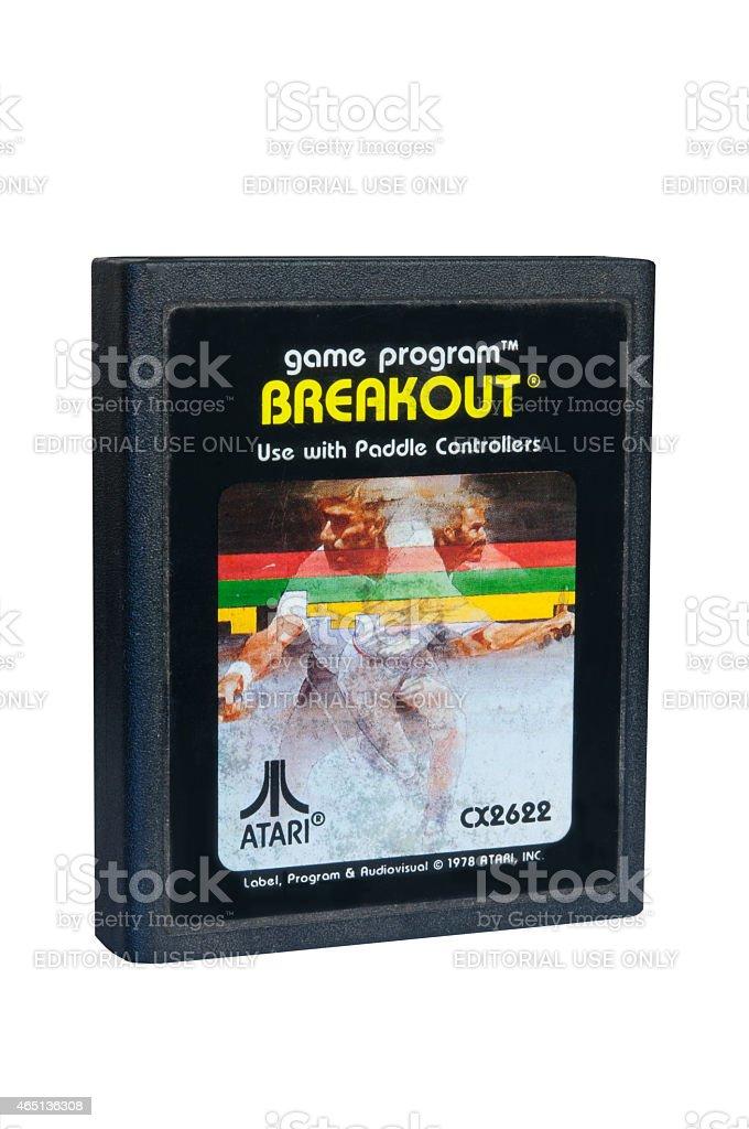 Breakout Atari 2600 Game Cartiridge stock photo