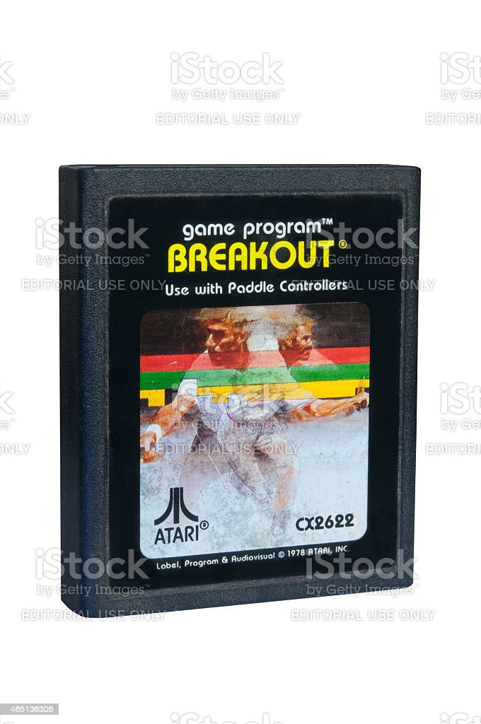 Breakout Atari 2600 Game Cartiridge stock photo