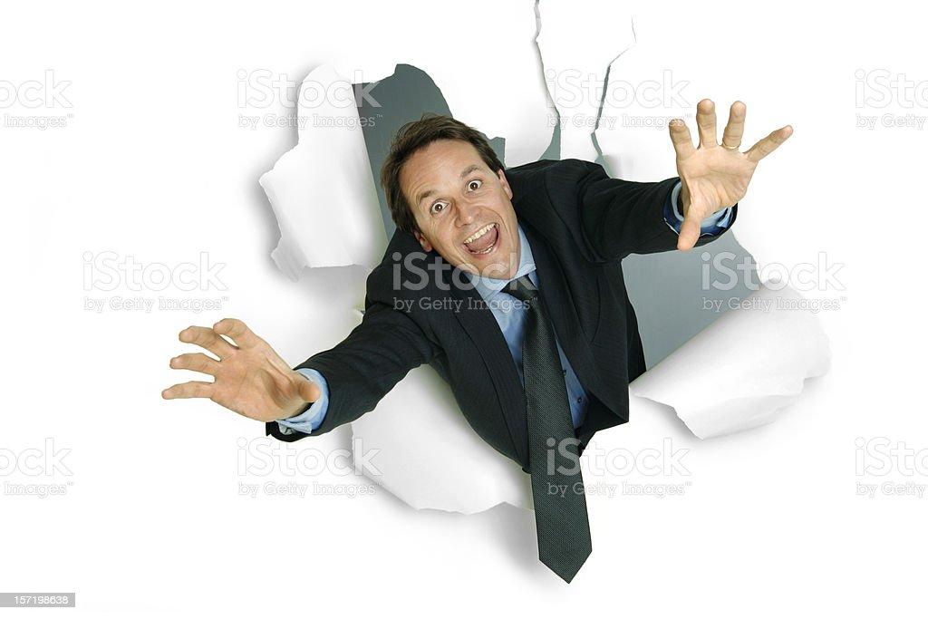 Breakthrough Businessman royalty-free stock photo