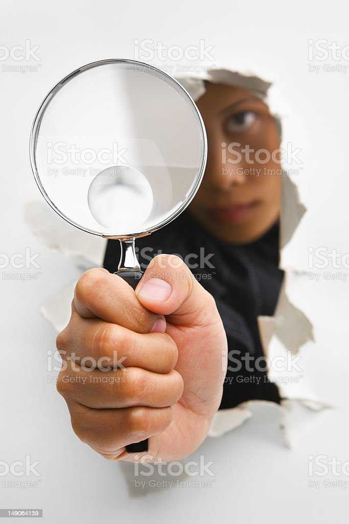 Breakthrough in investigation process royalty-free stock photo