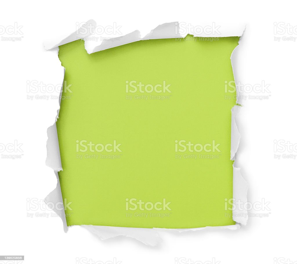 Breakthrough paper square stock photo