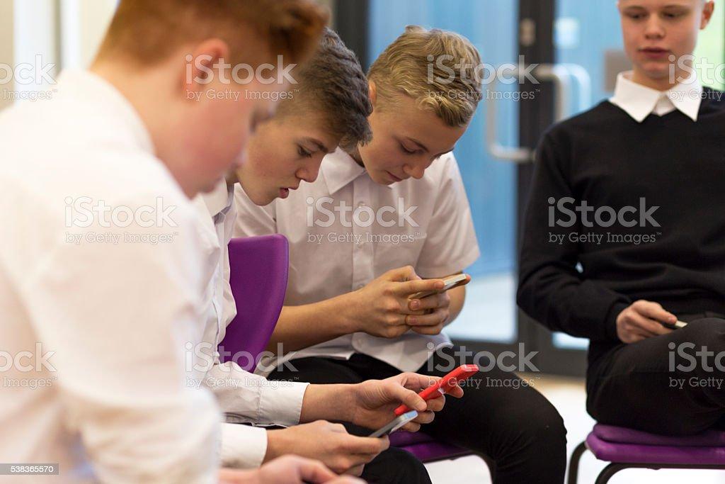 Breaktime at School stock photo