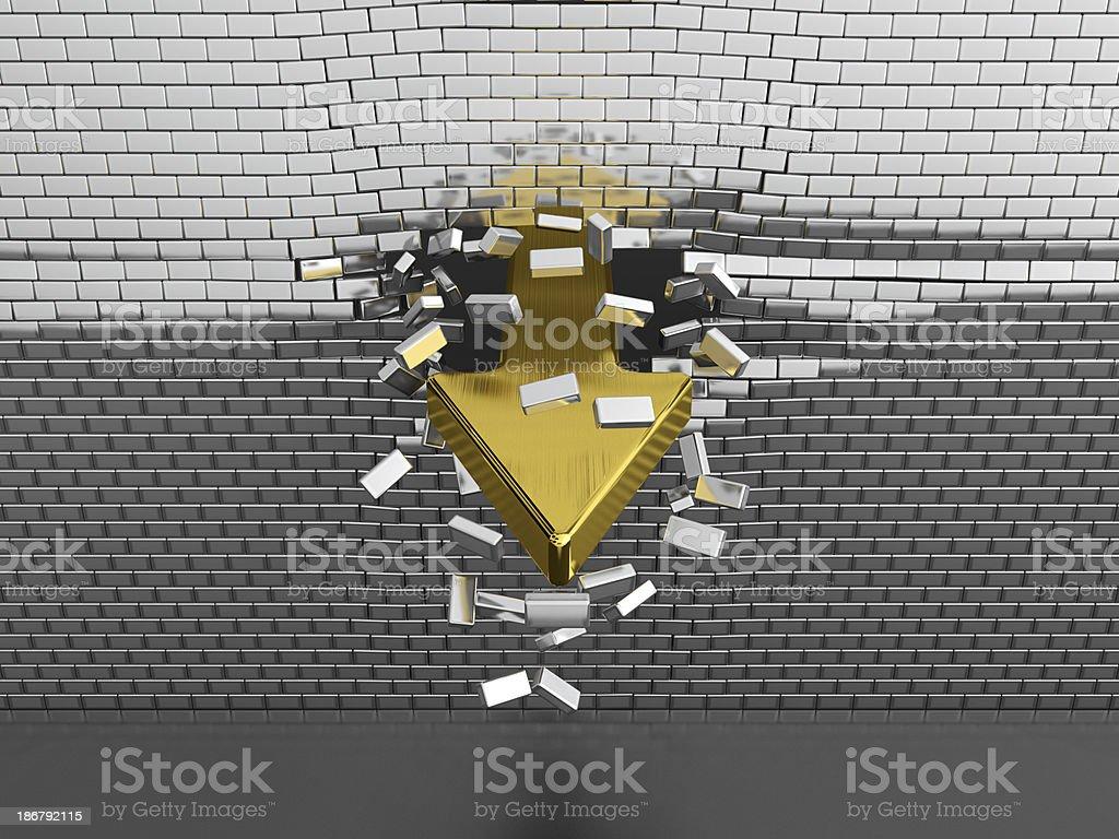 Breaktrough stock photo