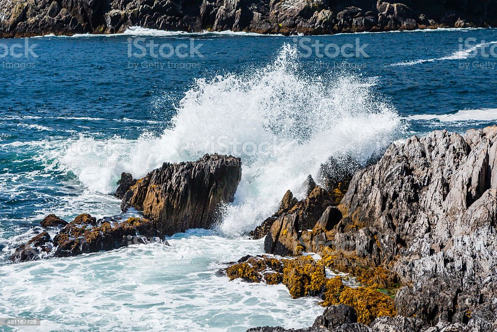 breakwater at Dursey Sound stock photo