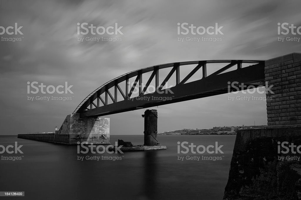 Breakwater Bridge stock photo