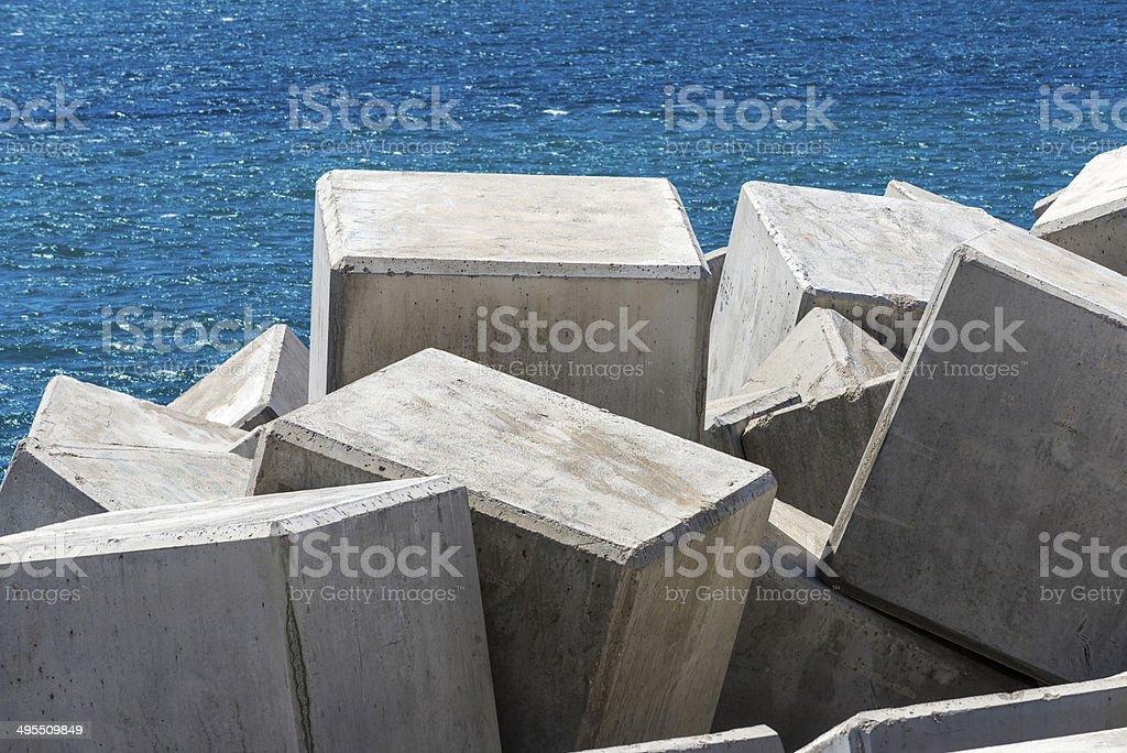 breakwater cube stock photo