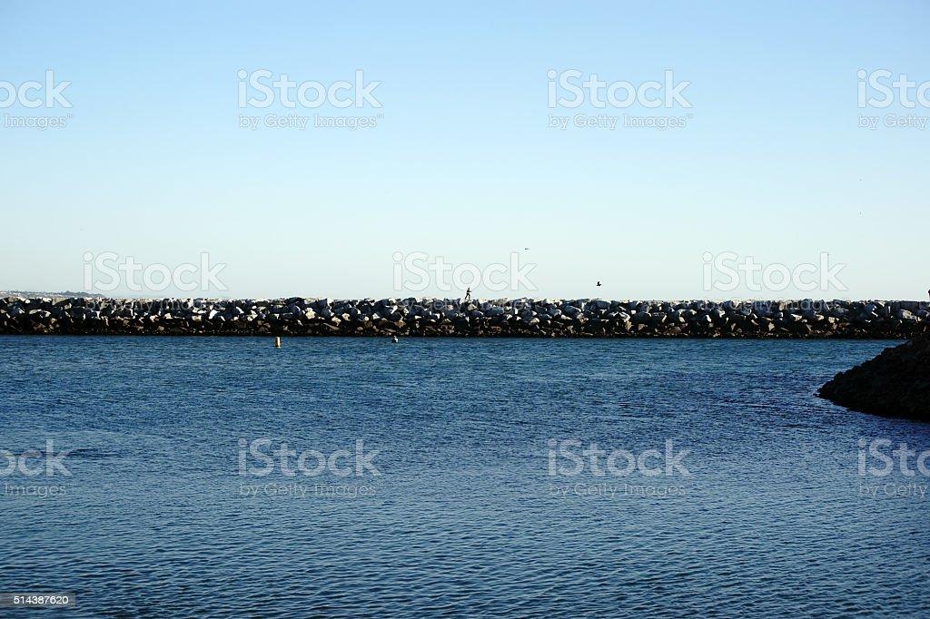 Breakwater Dana Point stock photo