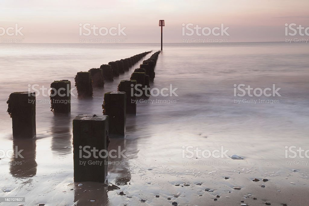 Breakwater Groynes (XXXL) royalty-free stock photo
