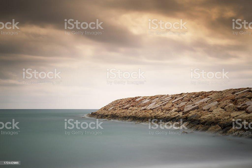Breakwater royalty-free stock photo