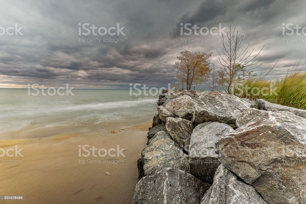 Breakwater stock photo