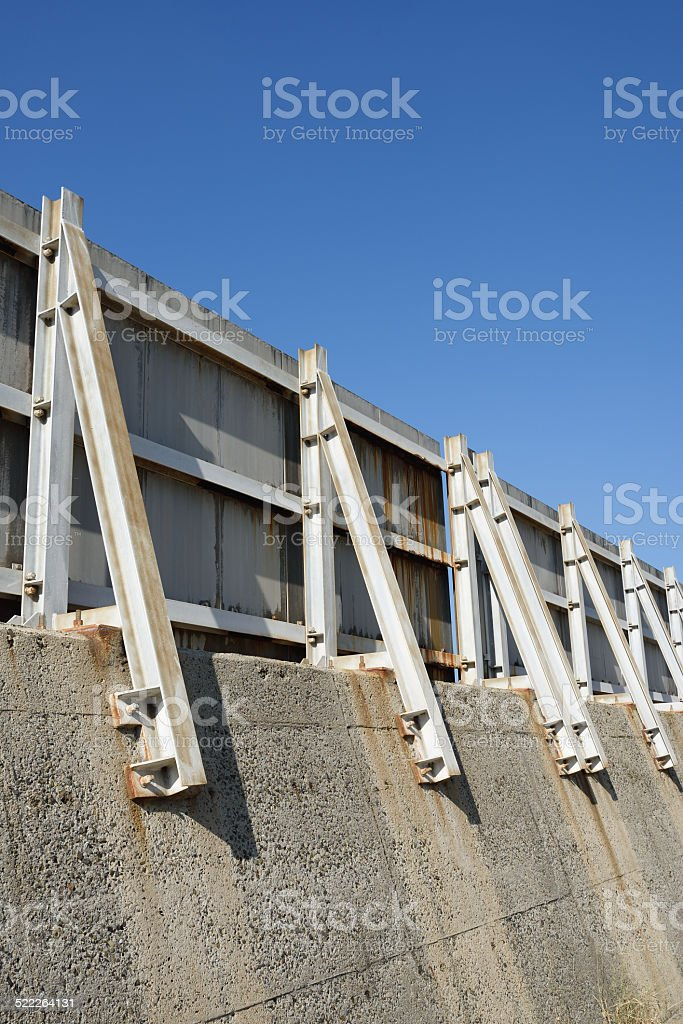 breakwater seawall stock photo