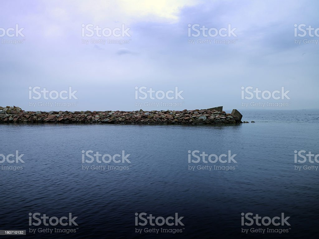 Breakwaters royalty-free stock photo