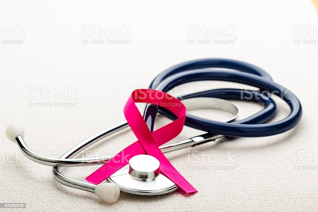 Breast cancer awareness concept. stock photo
