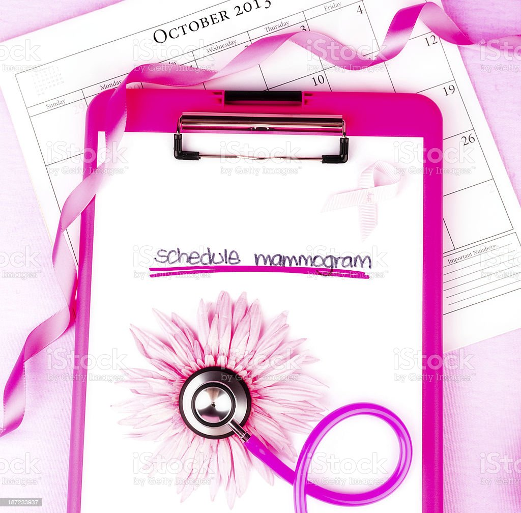 Breast Cancer Awareness Month - Schedule Mammogram royalty-free stock photo