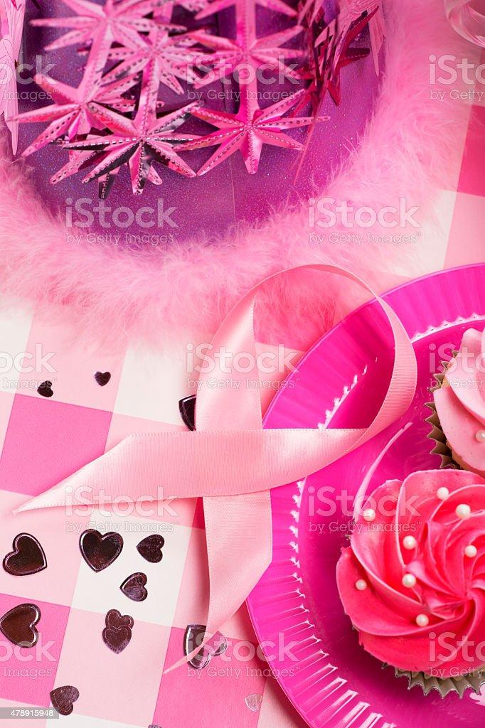 Breast Cancer Awareness Ribbon Celebration stock photo