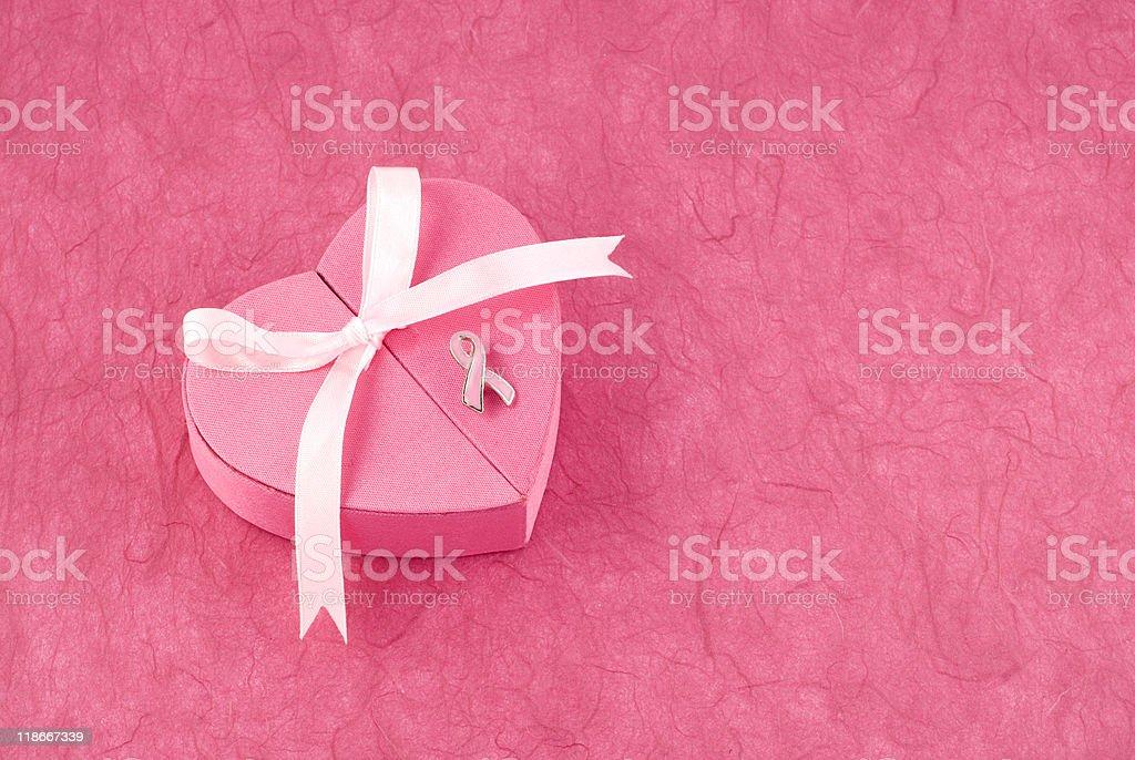 Breast Cancer Awareness Ribbon Pin stock photo