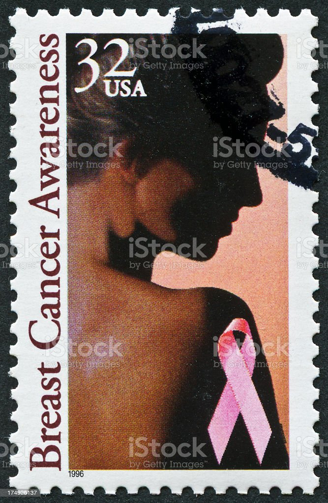 Breast Cancer Awareness Stamp royalty-free stock photo