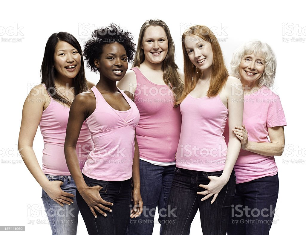 Breast Cancer Awareness Women royalty-free stock photo
