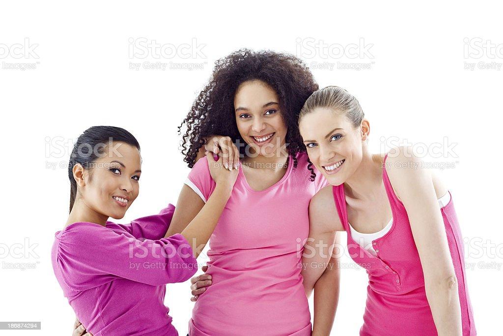 Breast cancer awareness women stock photo