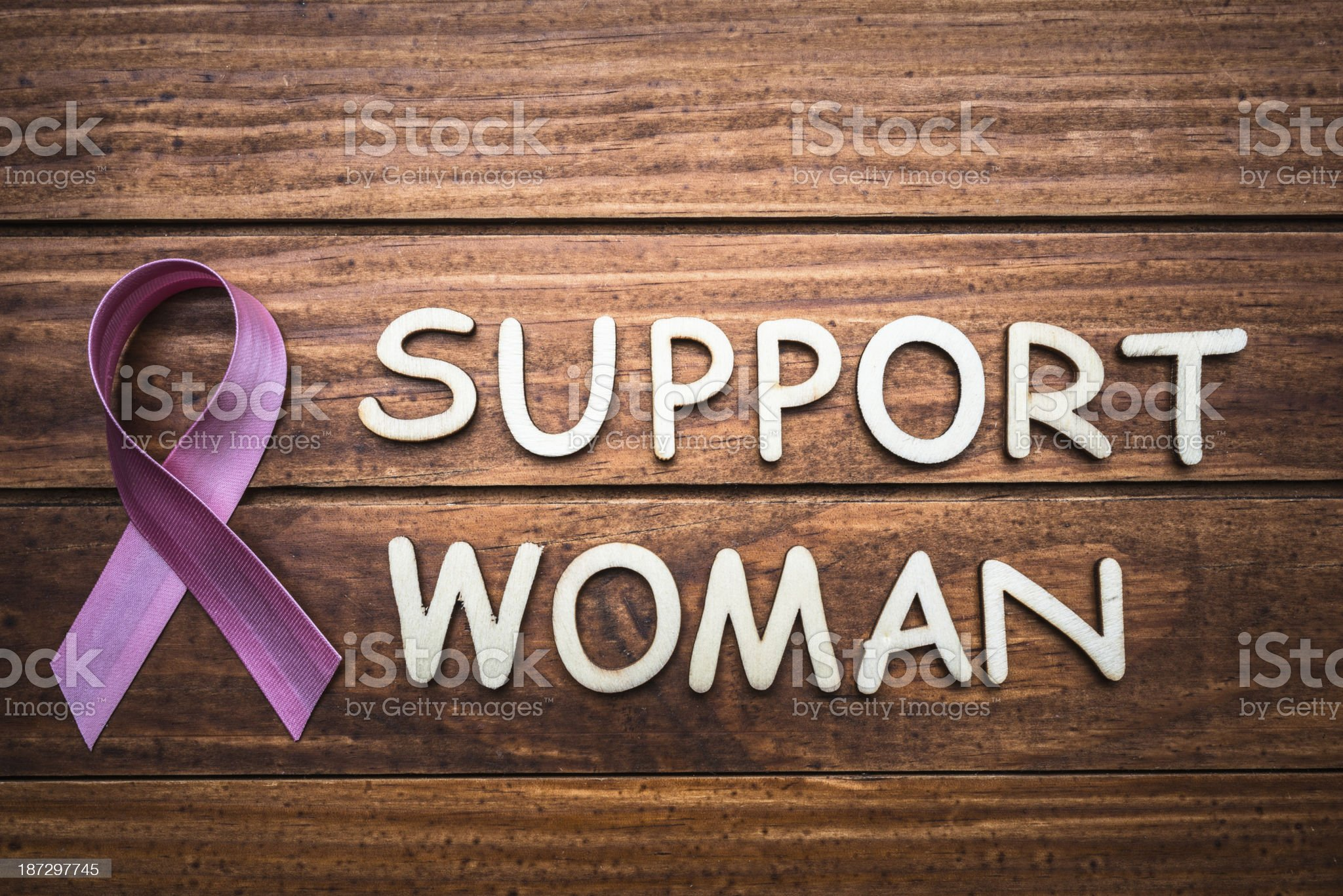 Breast cancer day with ribbon - concept image royalty-free stock photo
