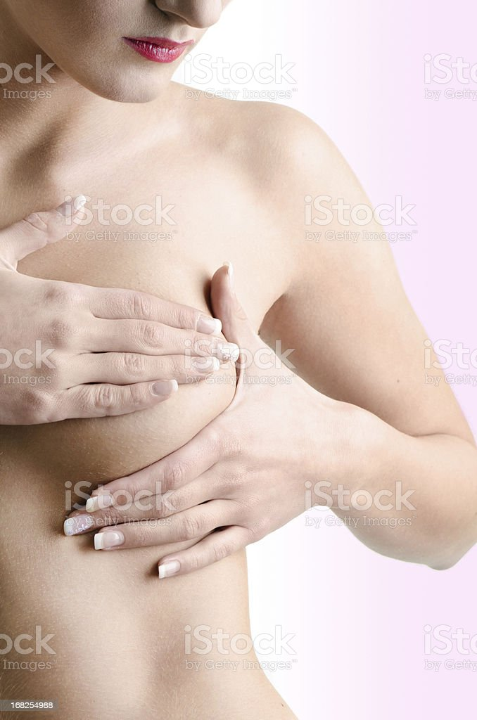 Breast cancer exam royalty-free stock photo