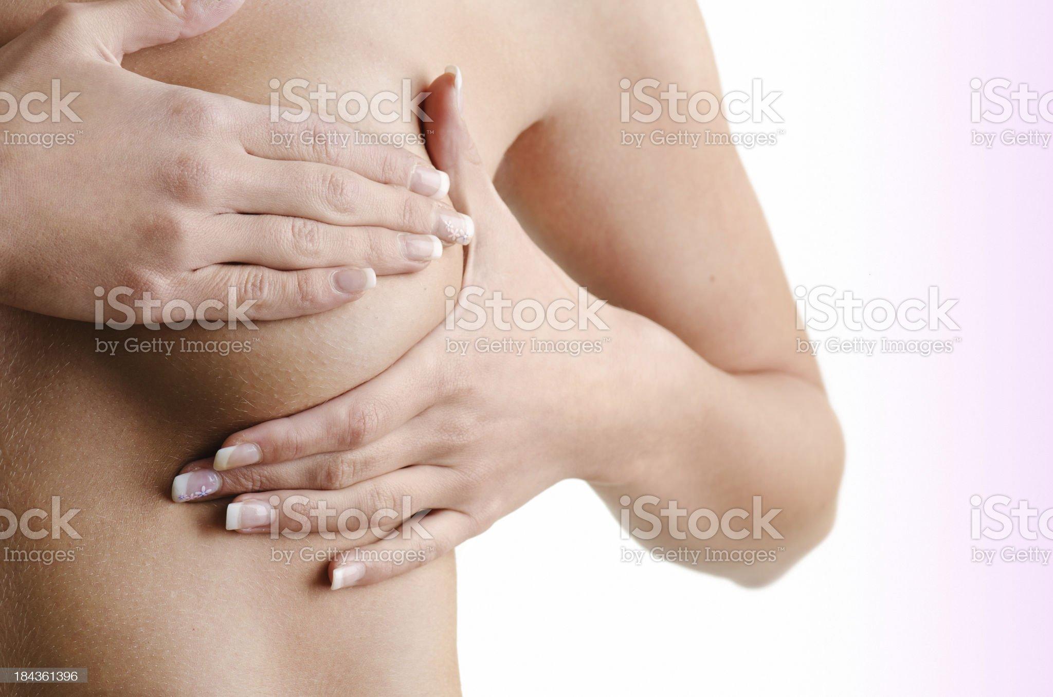 Breast cancer exam royalty-free stock photo