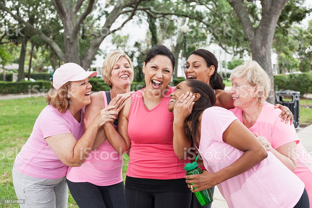 Breast cancer rally royalty-free stock photo
