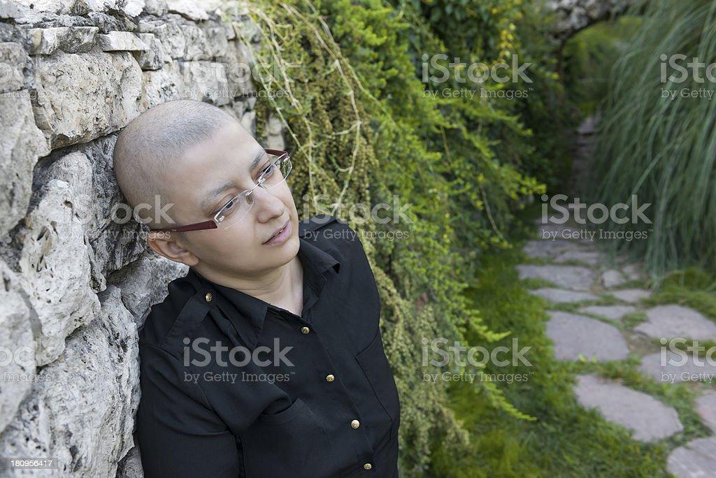 Breast cancer survivor royalty-free stock photo