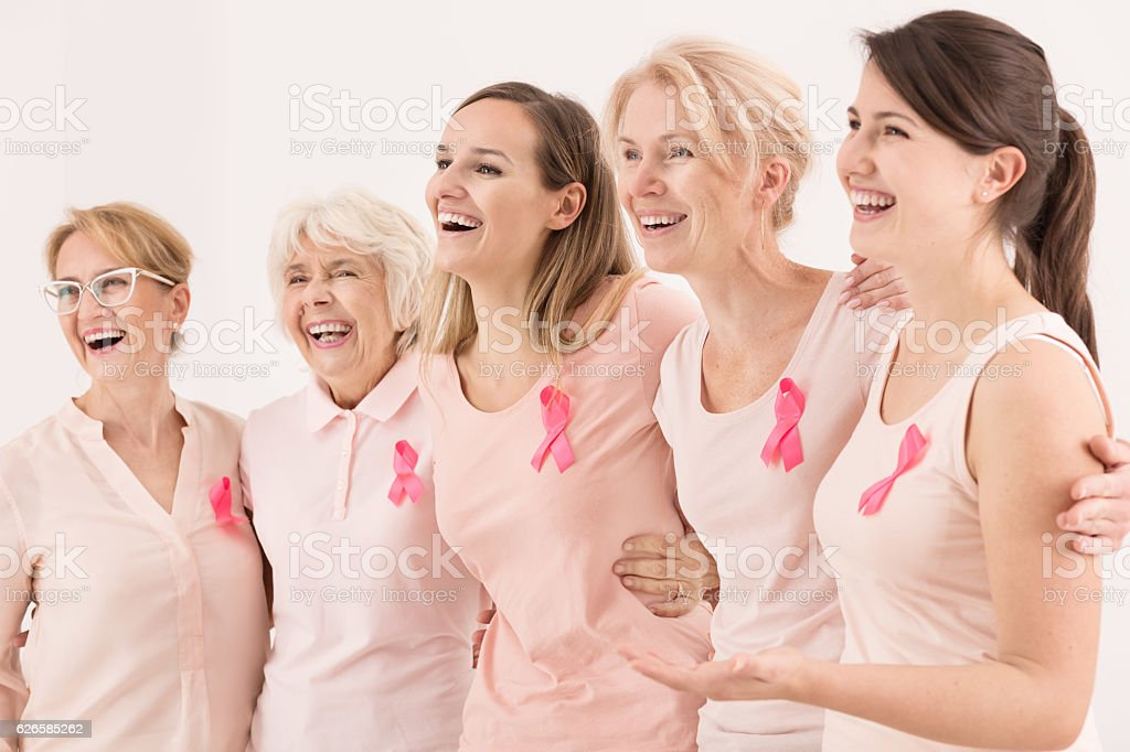 Breast cancer survivors stock photo