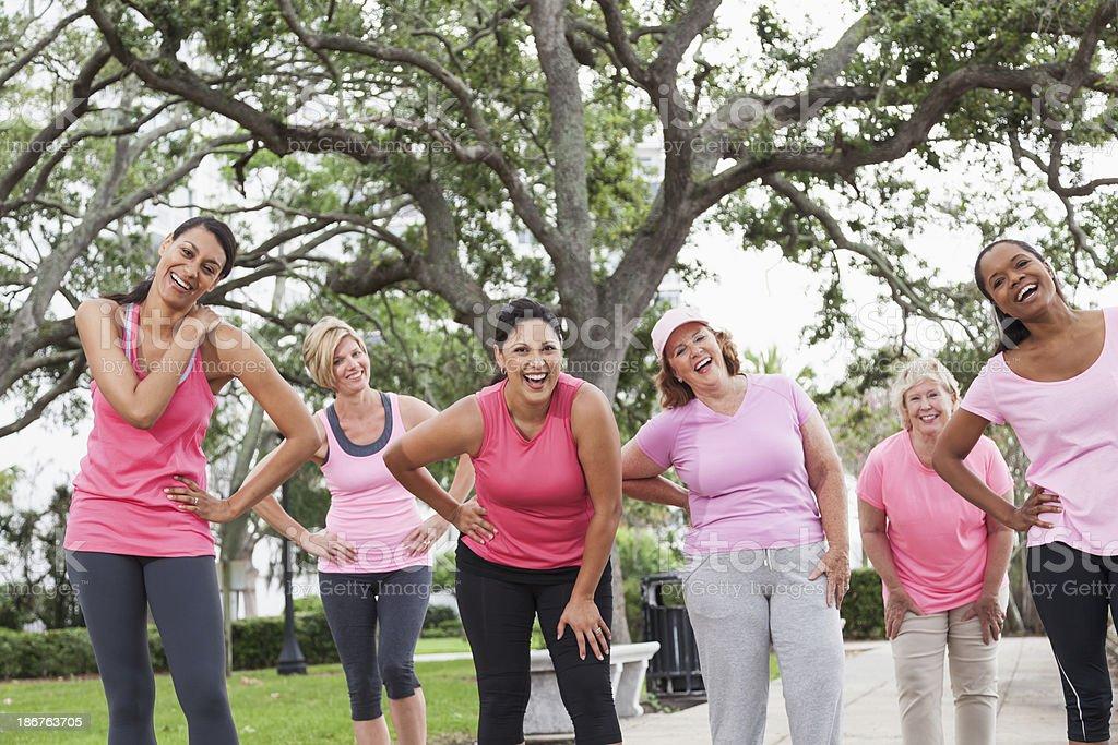 Breast cancer walk royalty-free stock photo