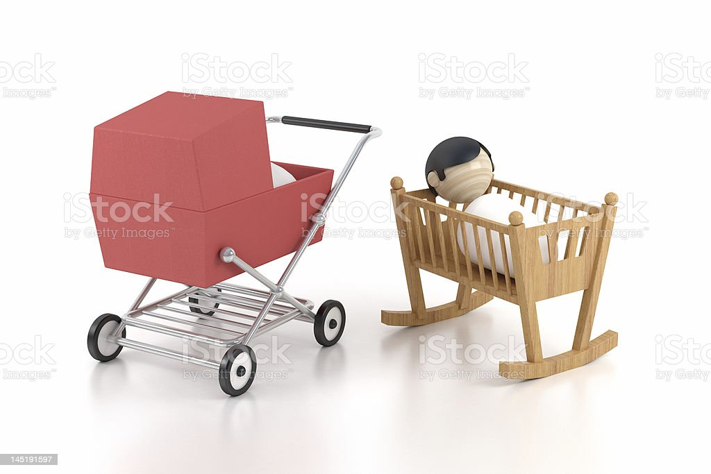 breast child in the cardle stock photo