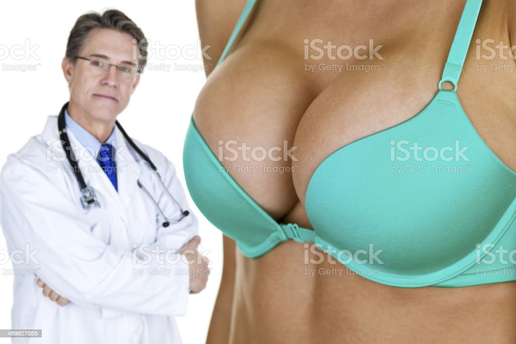 Breast enhancement concept stock photo