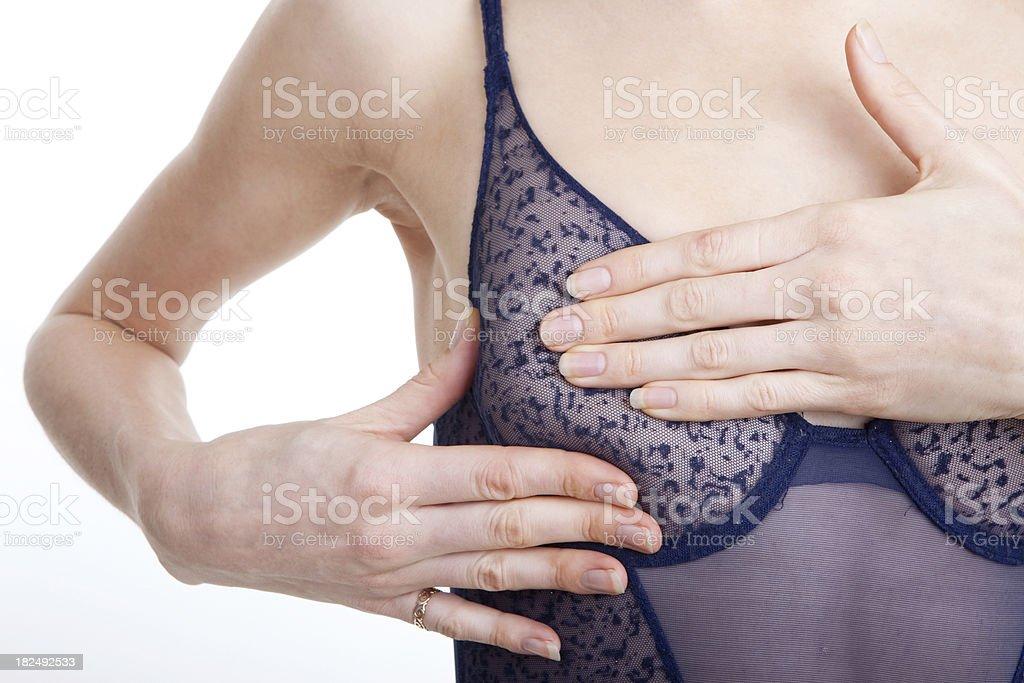 Breast Exam. XL stock photo